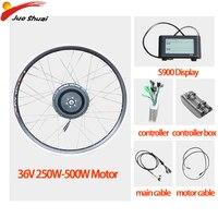 20''24''26''700C Ebike Conversion Kit 36V 250W-500W Electric Bike Kit E Bike Front Motor Wheel Bicycle Bicicleta Eletrica Kit