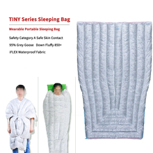 AEGISMAX 小型 FP850 ウェアラブルポータブル寝袋 95% ガチョウミイラタイプ 36℉ 〜 45℉Camping 寝袋超軽量暖かい