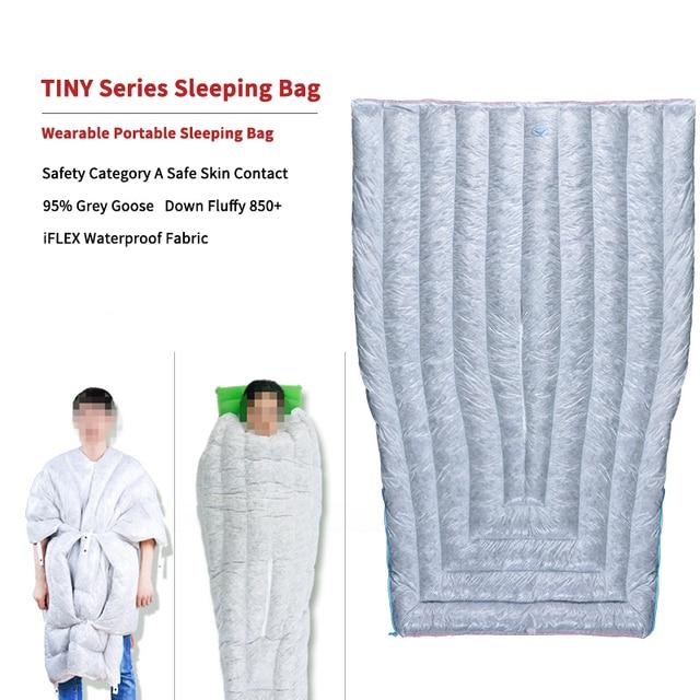 AEGISMAX TINY FP850 Wearable Portable Sleeping Bag 95% Goose Down Outdoor Mummy Type 36℉~45℉Camping Sleeping Bag Ultralight Warm