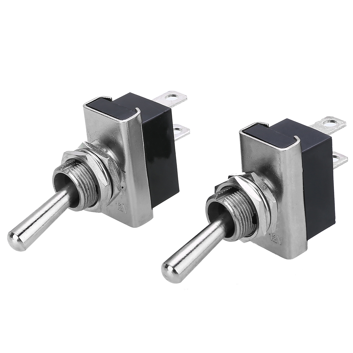 New Pair On Off Heavy Duty Flick Switches 12V 25A Waterproof Toggle Switch Kits for Boat Marine