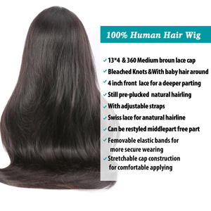 Image 5 - Rosabeauty Brazilian Straight Glueless Lace Front Human Hair Wigs Pre Plucked For Black Women 28 30 Inch Full 360 Frontal Wig