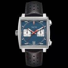 Dropshipping. Exclusivo. Nueva llegada 2021 TACTO reloj de lujo para hombres de cuero Chronograpgh reloj de cuarzo reloj Masculino impermeable 30M