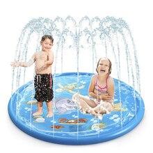170см лето внешний брызг воды игрушки подушка PVC Раздувная циновка для Дети играть мат воды игрушки пляж газон спринклерной колодки