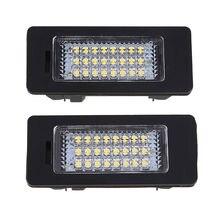1pair 12V Car Styling internal LED License Number Plate Light Lamp For BMW 5 Series E39 E60N