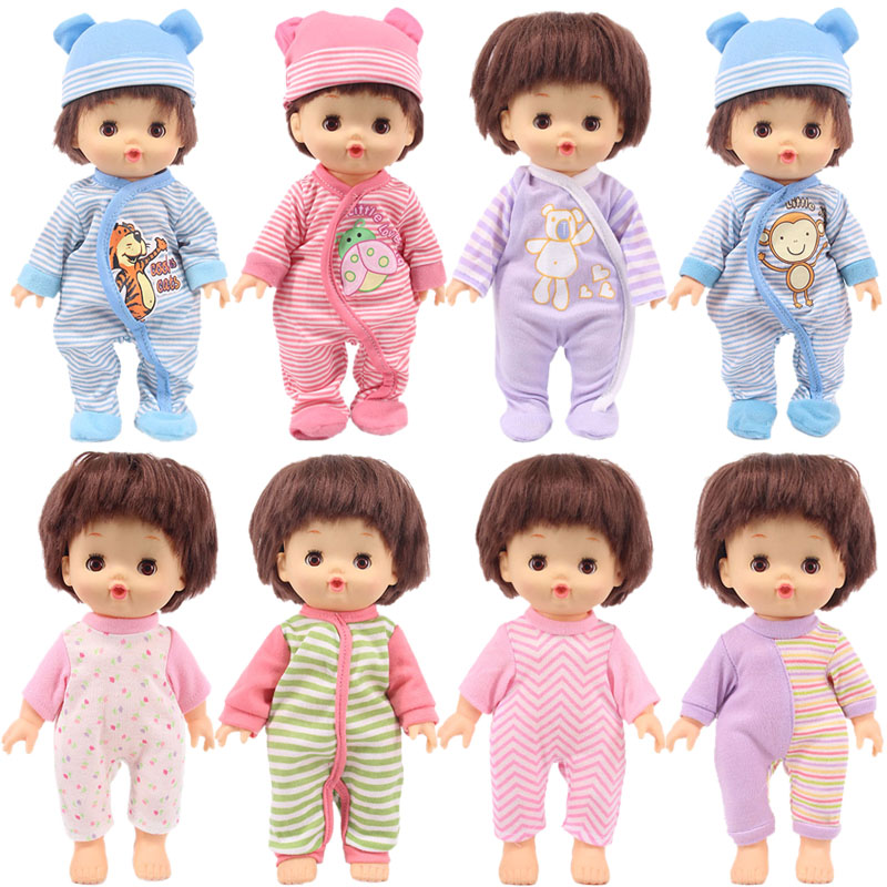 Doll 14 Styles Nenuco Doll Casual Animal Cute Pajamas Fit 25Cm Mellchan Baby Doll Clothes Accessories,Generation,Girl's Toy Gift
