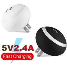 UFO  2.4A Plug Double USB Charger for Iphone Ipad Universal