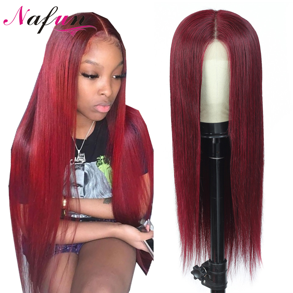 Transparent Lace 99j 13x4 Lace Front Human Hair Wigs Pre Plucked Brazilian Hair Wigs Straight Lace Front Wigs For Women Remy Wig