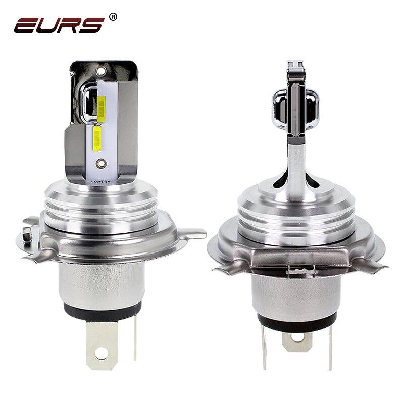 EURS Motorbike H4 LED CSP Car Motorcycle Headlight Bulb 6000K 3000K H6 BA20D LED Headlamp Hi Lo Beam Light Conversion Kit Bulbs