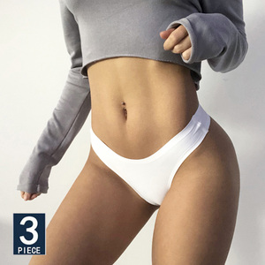 3PCS/Set Women Seamless Panties Sexy Underwear Invisible Lingerie Breathable Briefs Ice Silk Ultra-thin Intimate Underpants M-XL