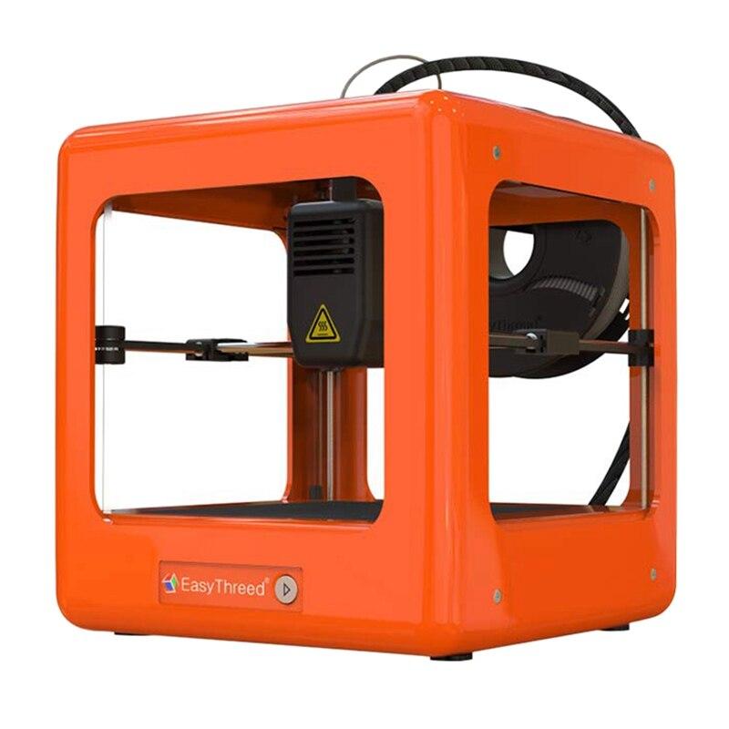 Easythree ed Nano imprimante 3D de bureau d'entrée de gamme pour les enfants étudiants pas d'assemblage fonctionnement silencieux opération facile Orange de haute précision