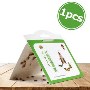 Image 1 - 1 pcs 헝겊 식료품 저장실 음식 나방 함정 페로몬 살인자 붙여 넣기 끈적 접착제 함정 해충 퇴치 비행 곤충 가족 공장 식당 사용