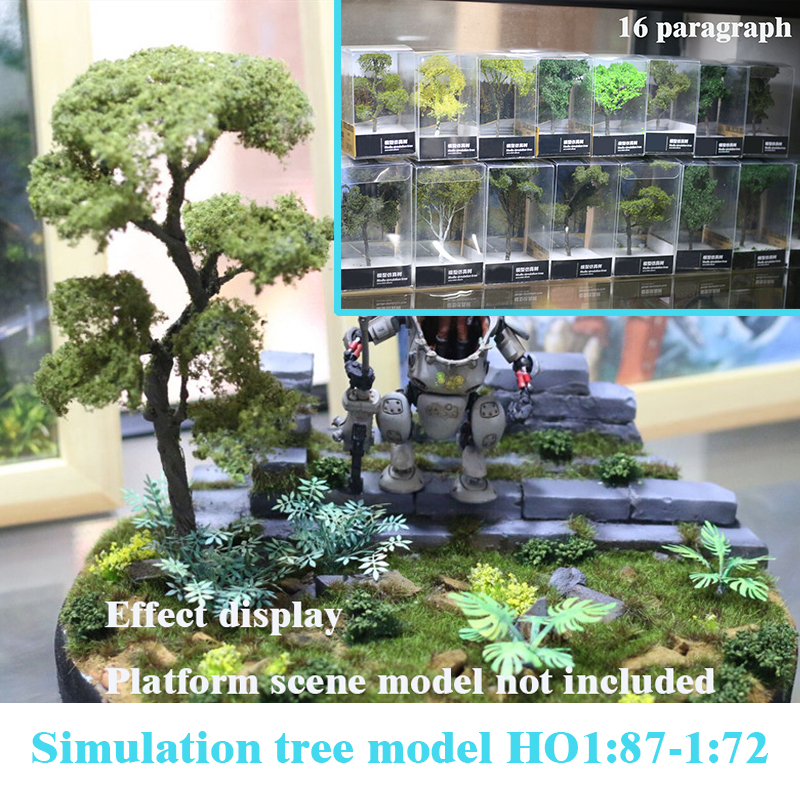 Miniaturization Model  Simulation Tree Model  HO1:87-1:72  Military Sand Table Scene Platform Train DIY Materials 16