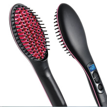 цены Electric Hair Straightener Brush Hair LCD Styling Straightening Comb Ionic Hair Brush Hot Irons Comb Hairbrush Heating Comb Tool