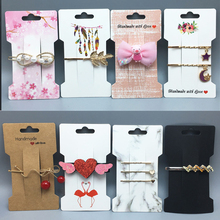 50pcs/lot Multi-style Hair Accessories Display Card Handmade Hair Clip Hairband Jewelry Display Cards Packaging Price Tags Cards