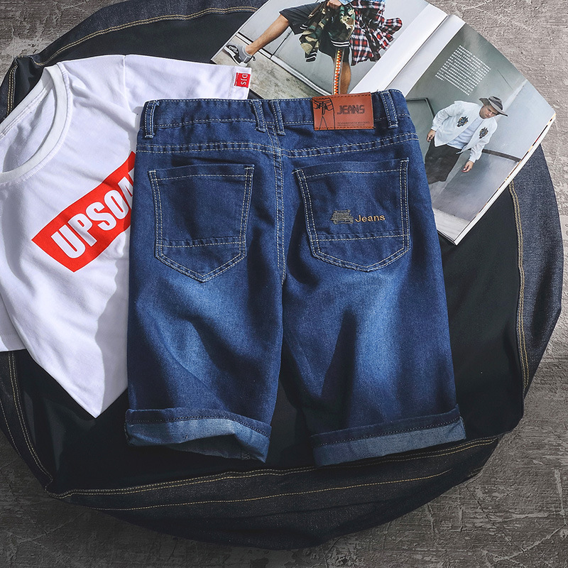 Spring Summer New Products MEN'S Jeans Shorts Fashion Casual Shorts With Holes MEN'S Jeans Korean-style Straight-leg Pants