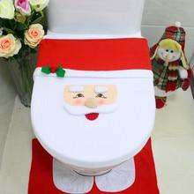 1 шт. рождественское сиденье для унитаза и коврик для ванной комплект необычный коврик для ванной комнаты Санта рождественские украшения для дома
