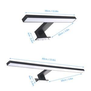 Image 5 - Luz LED de pared para espejo de baño, lámpara de tocador, IP44, blanco neutro, 30cm, 60cm