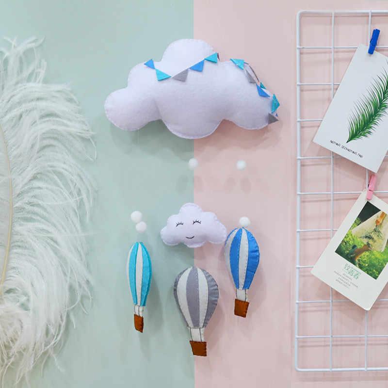 Meian niedokończony pokój dziecięcy ręcznie robiony gorący balon dmuchany chmury pokój dziecięcy fotografia ścienna dekoracje czuł DIY Craft