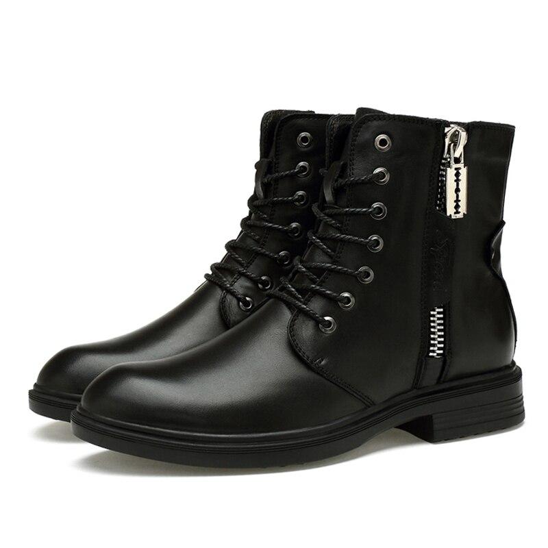Мужские ботинки 2019 г. Новые Модные износостойкие зимние ботинки из искусственной кожи мужские рабочие ботинки зимние теплые ботинки 36 46*9918