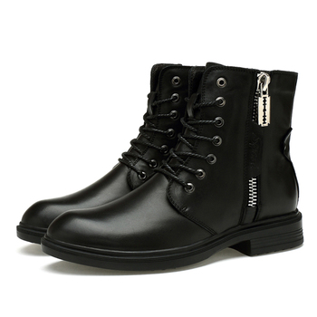 Men Boots 2019 New Fashion Pu Leather Wear Resisting Snow Boots Men Working Boots Shoes Winter Keep Warm Boots 36-46 *9918