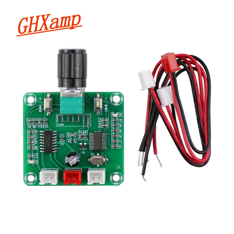 GHXAMP Bluetooth 5.0 Power Amplifier Board PAM8403 Dual 5W Two-channel Stereo Wireless Audio Amplification DIY 5W*2 1pcs