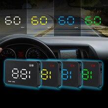 Carro universal hud obd ii cabeça up display velocímetro alarme de excesso de velocidade digital carro-estilo velocímetro pára-brisa