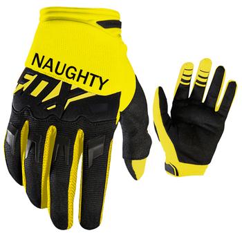 NAUGHTY FOX rękawice motocyklowe MX motocykl jazda na rowerze górskim sport DIRTPAW wyścig żółte rękawiczki tanie i dobre opinie Unisex Full Finger protection Poliestru i nylonu