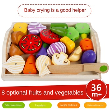 Children's magnetic fruit and vegetable tableware kitchen toy wooden fruit and vegetable combination simulation play house set elhadi yahia m fruit and vegetable phytochemicals chemistry and human health 2 volumes