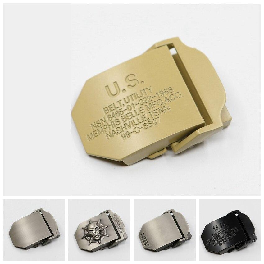3d Skull Belt Buckles For Men Belt Automatic Canvas Belt Suitable Military Tactical Body Wide 38mm Waist Tape Buckle Accessories