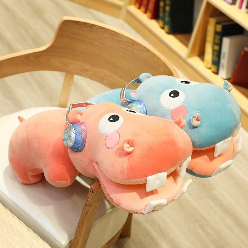 Nuevo caliente 1 Pza 40/60/80CM almohada grande hipopótamo juguete de felpa suave relleno con muñeco con forma de diente grande dibujos animados lindos regalos para regalo de cumpleaños para niños 1 unidad 40/60/80cm muñecos de peluche de animales Kawaii dibujo unicornio arcoíris juguetes de peluche para niños juguetes presentes niños regalo de cumpleaños para bebés