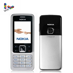 Nokia 6300 Telefone Celular GSM Inglês & Árabe & Teclado Russa Desbloqueado Originais Remodelado Telefones Celulares