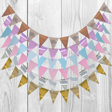 1 set hot sale mexican banner garland wedding flag banner decorations for themed party halloween birthday party 3m 12 Flag Gold Silver Paper Board Garland Banner For Baby Shower  Birthday Party Decoration Wedding Home Garland Flags Supplies