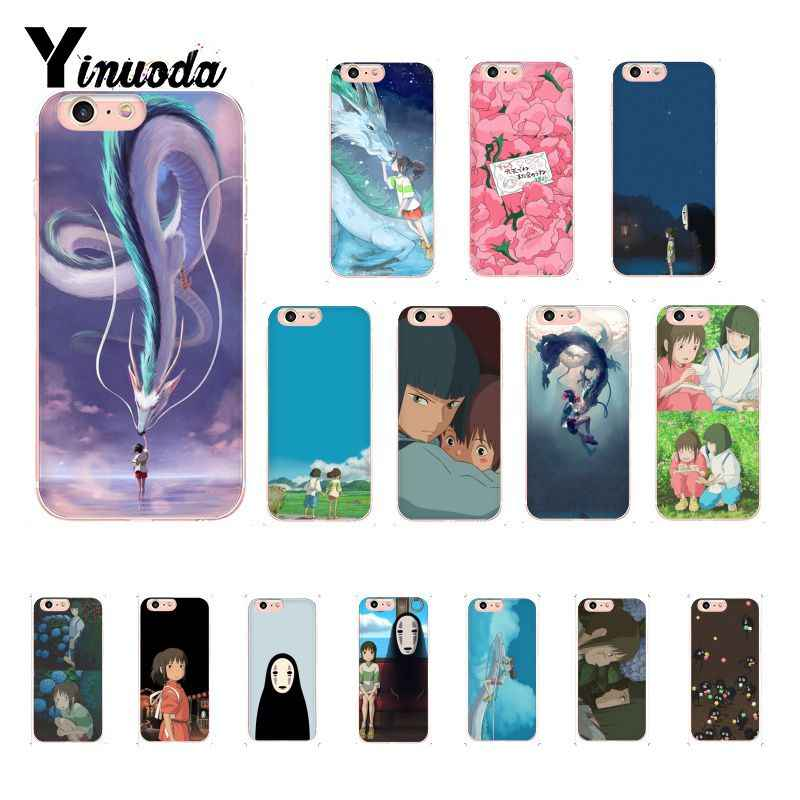 Yinuoda Cartoon Studio Ghibli Spirited Away Zachte Telefoon Case voor iPhone 8 7 6 6S Plus X XS MAX 5 5S SE XR 10 Gevallen 11 pro max