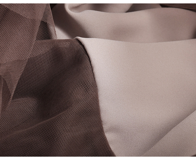 [EAM] wysoki elastyczny pas kontrast kolor siatki asymetryczna spódnica pół ciała kobiety moda fala nowa wiosna jesień 2020 1S483