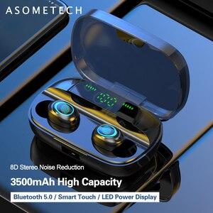 Image 1 - S11 Bluetooth אוזניות מגע טביעת אצבע TWS אלחוטי אוזניות 8D סטריאו הפחתת רעש דיבורית אוזניות אוזניות עבור טלפון