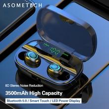 Écouteurs Bluetooth S11 avec des empreintes digitales, écouteurs sans fil, réduction du bruit stéréo, écouteurs mains libres pour téléphone