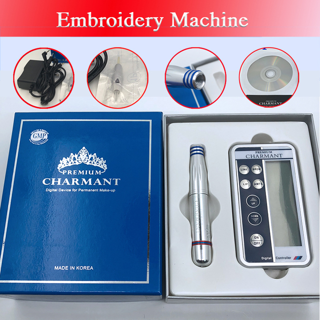 Charmant Permanent Makeup Machine Kit For Eyebrow Tattoo Lip eyeliner Microblading Pen Set dermografo Make up microblade machine 5