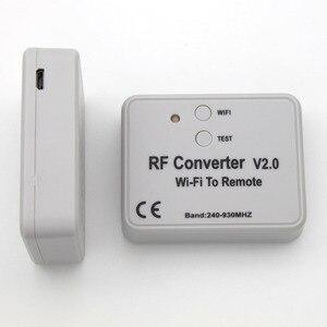 Image 4 - محول واي فاي عالمي للتحكم عن بعد 330 433 868MHz أندرويد IOS RF واي فاي للتحكم عن بعد واي فاي لتحويل RF عن بعد 240 ~ 930MH