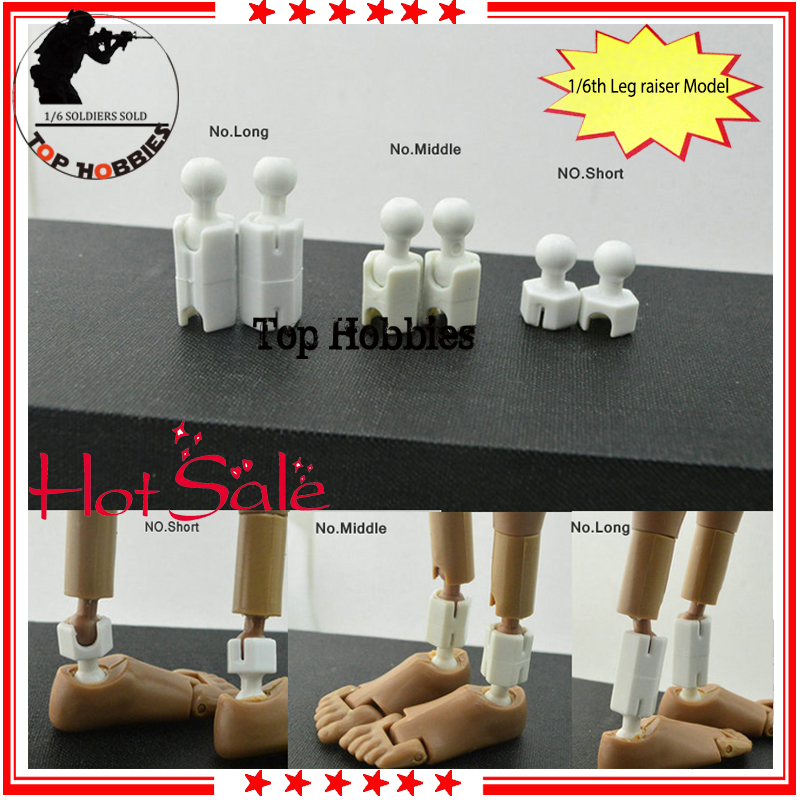 1//6 White Figure Body Feet Leg Extra Long Peg Joint Adapter Accessories Model