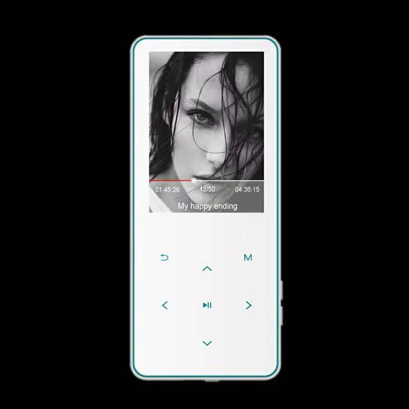 Portable Bluetooth MP3 2.4 pouces 2.5D écran tactile 8GB 16GB mémoire APE FLAC WAV E-Book sans amour musique vidéo MP 4 lecteur de musique