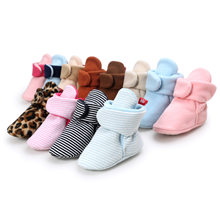 Baby Boys Girls Boots Shoes Newborn Infant Cotton Soft Anti-slip Warm Fleece Booties Warm Winter Socks Slippers Crib Shoes(China)