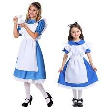 Umorden alicja w krainie czarów Cosplay alicja kostium dla nastoletnia dziewczyna kobiety księżniczka pokojówka sukienka Halloween Purim Mardi Gras Party Dress