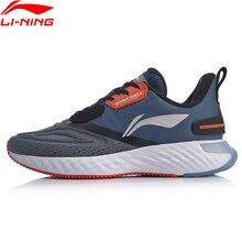 Li Ning حذاء LN للجري مزود بحزام على شكل سحابة حذاء رياضي مضاد للمياه بطانة مضادة للماء طراز ARHP143 SOND19