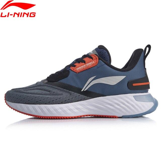 Li ning גברים LN ענן מגן כרית ריצה נעלי WATERSHELL בטנה עמיד למים ספורט נעלי סניקרס ARHP143 SOND19