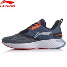 Li ning men ln nuvem escudo almofada tênis de corrida forro watershell à prova dwaterproof água sapatos esportivos tênis arhp143 sond19