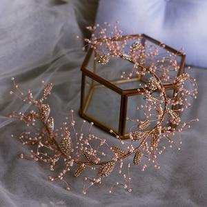 Image 3 - Elegante Laat Barokke Bruiloft Haarbanden Soft Bridal Haarbanden Bruiloft Haar Accessoire