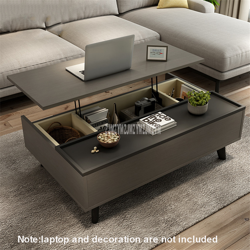 Nordic Simple Lifting Tea Table Lifting Sofa Side Table Living Room Multifunctional Liftable Table Furniture With Storage Space