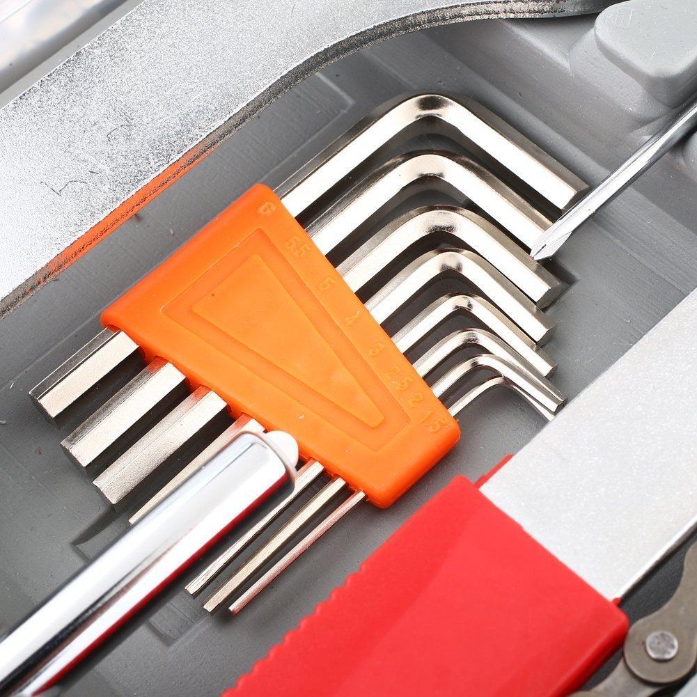 44 pièces/boîte vélo en acier au carbone Kit de réparation Super équipement boîte à outils outil de réparation équipement de VTT ensemble d'outils de vélo universel