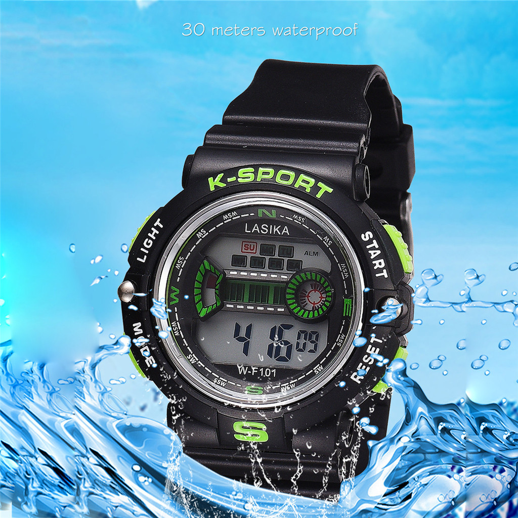 Children Watch Boy Digital LED Quartz Sports Wrist Watch Silicone Male Sports Watch Fsahion Relogio Christmas Gift Aletleri@50