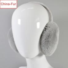 Earmuffs Winter Women Girl Real Fur Rex-Rabbit-Fur Outdoor Hot-Sale Ear-Caps Lovely Genuine